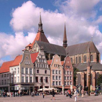 Hansestadt Rostock · Marktplatz mit Marienkirche